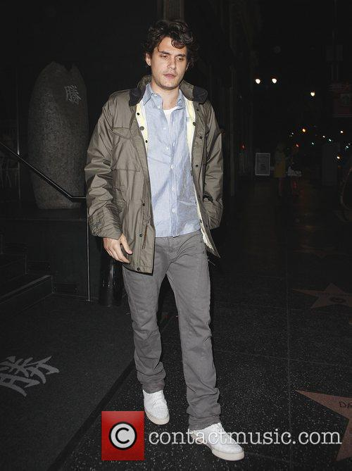 John Mayer leaving Katsuya restaurant Los Angeles, California