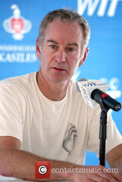John McEnroe attends a press conference for Kastles...