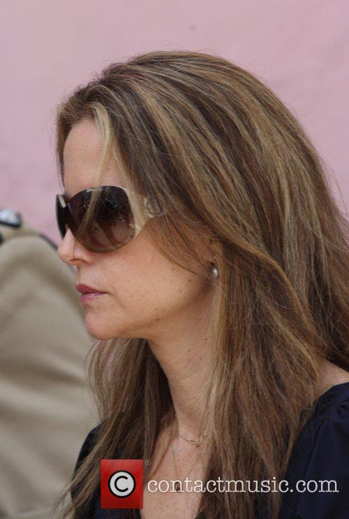 Kelly Preston leaves the Supreme Court, after the...
