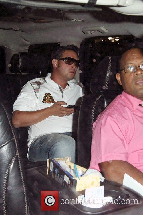 Jon Gosselin and his mother depart JFK airport...