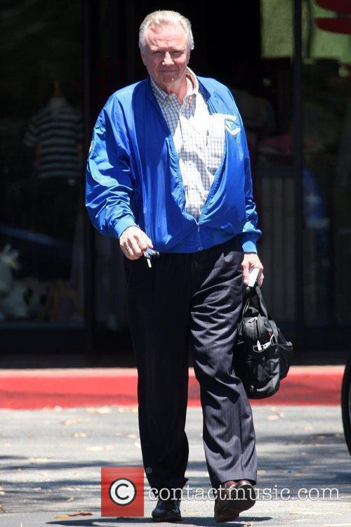 Leaving a deli in Hollywood while wearing a...