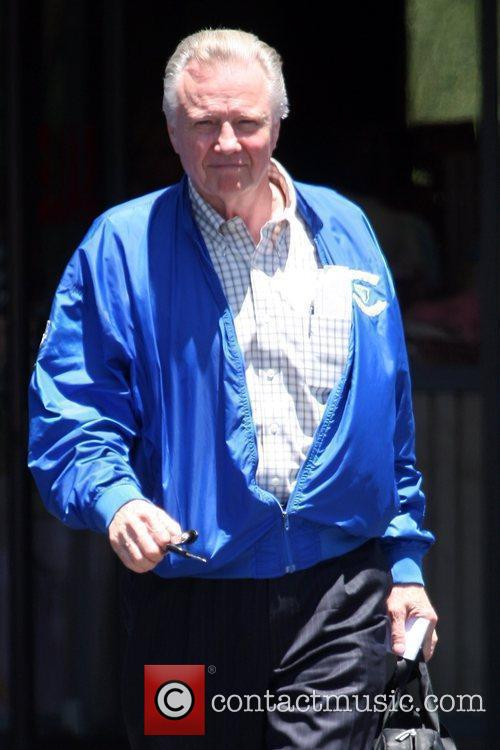 Jon Voight leaving a deli in Hollywood while...