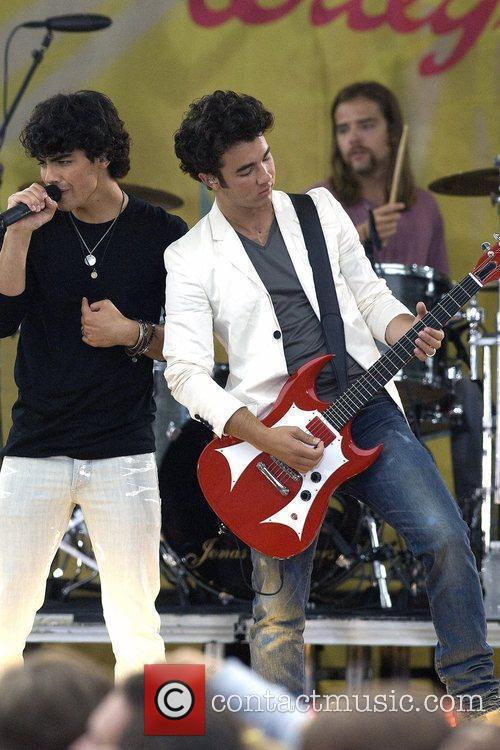 Jonas Brothers performing live as part of Good...