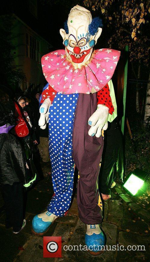Jonathan Ross' Halloween party outside his home during...