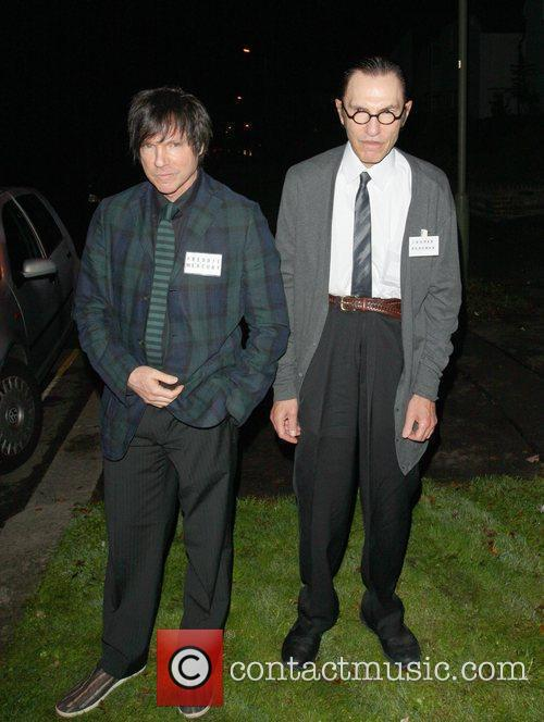 Sparks brothers Ron Mael and Russell Mael arriving...