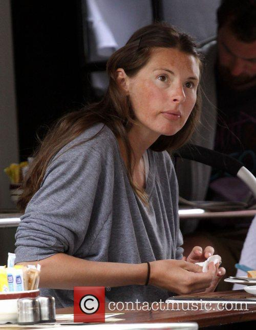 Jools Oliver has lunch with a friend at...