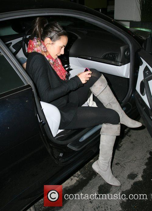 Jordana Brewster leaving Vitos Pizza in West Hollywood...