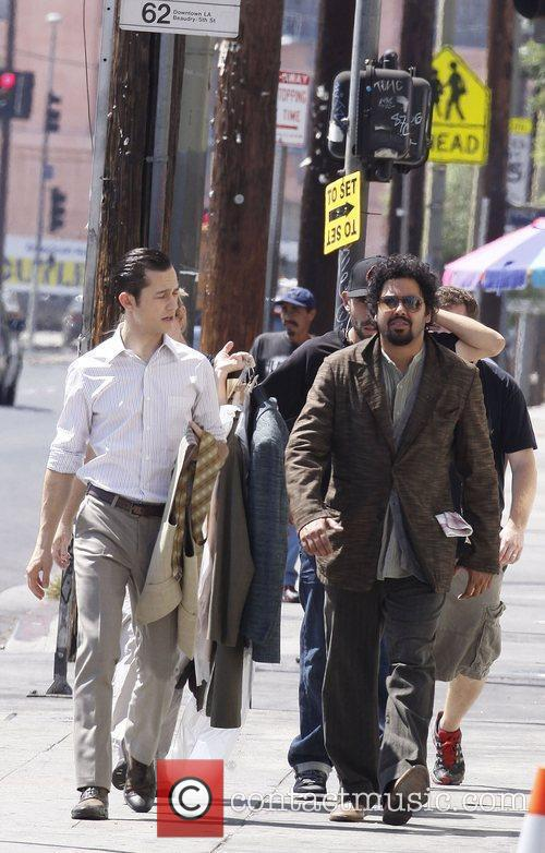 On the filmset of 'Inception'