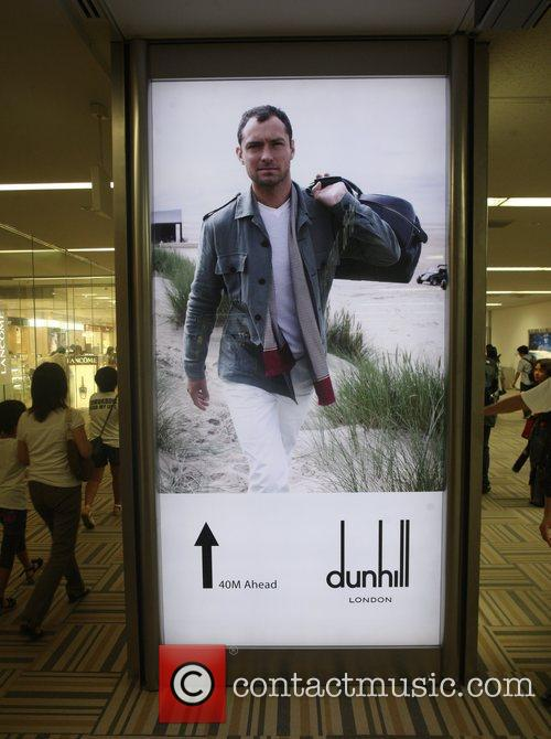 Jude Law features in an advertisement for Dunhill...