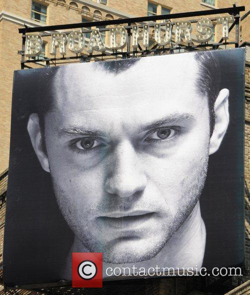 The Broadhurst Theatre makes preparations for 'Hamlet' on...