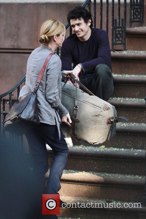 James Franco and Julia Roberts on the set...