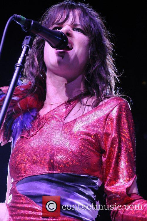 Juliette Lewis performing at the Greek theatre