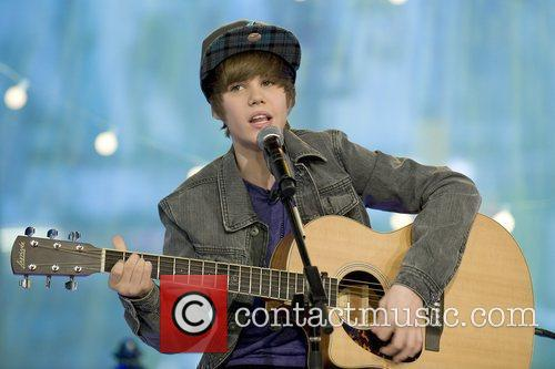 singer Justin Bieber performing on the weekend edition...