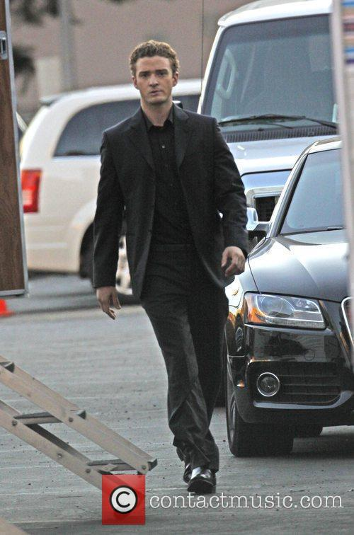 Justin Timberlake on the film set of 'The...