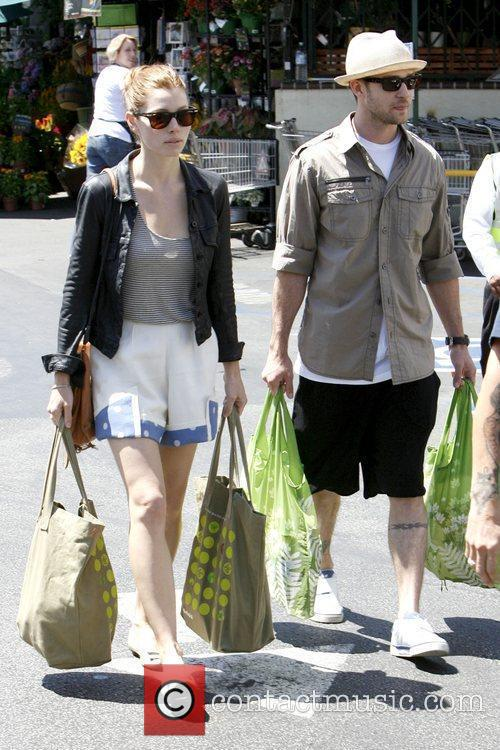 Leaving Whole Foods Market in Brentwood after grocery...