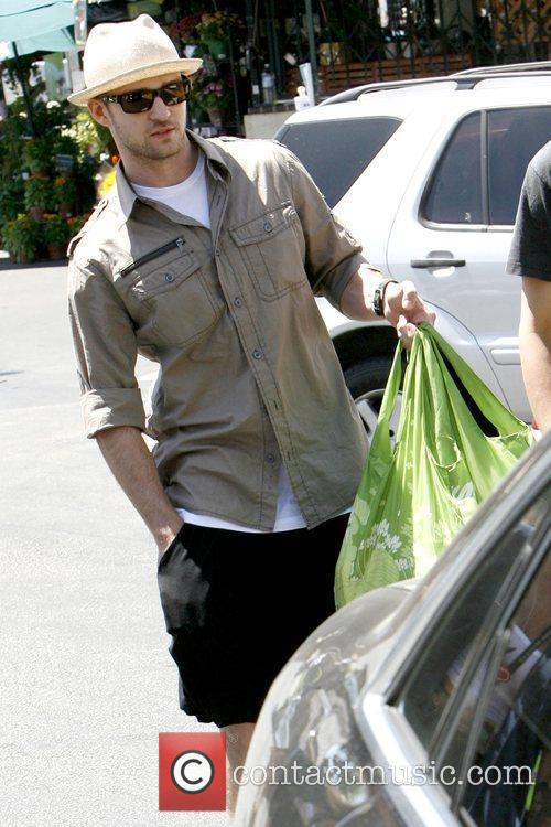 Justin Timberlake leaving Whole Foods Market in Brentwood...