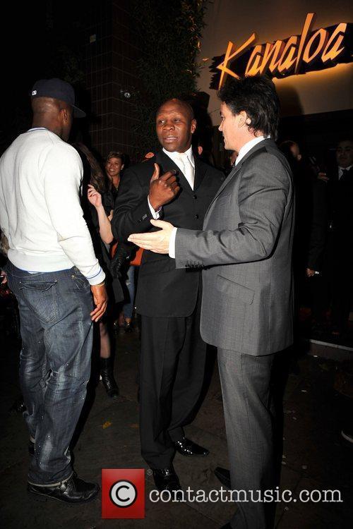 Chris Eubank outside Kanaloa Nightclub. London, England