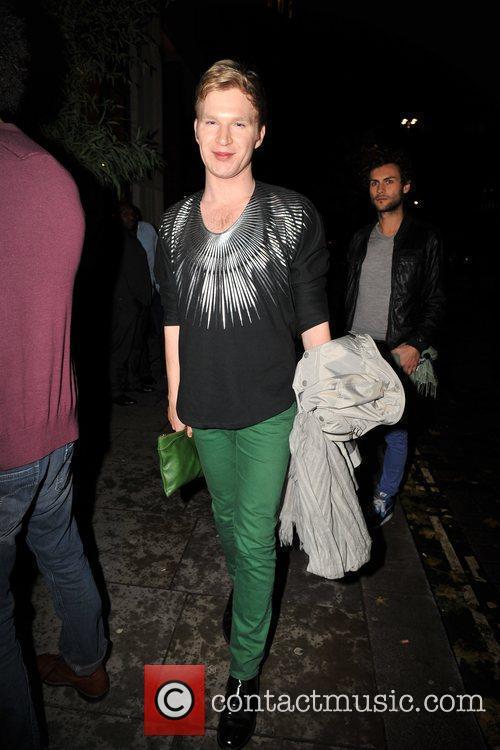 Henry Conway outside Kanaloa Nightclub. London, England