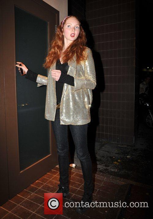 Lily Cole outside Kanaloa Nightclub.