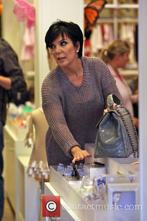 Kris Jenner shopping at a baby store in...