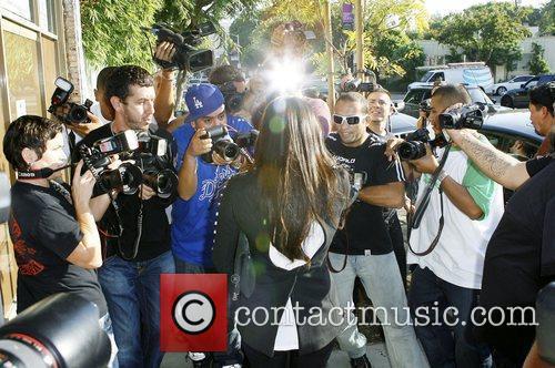 Kim Kardashian  filming a segment for her...