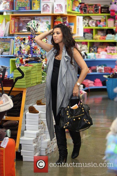 Pregnant Kourtney Kardashian  shopping at Kitson for...