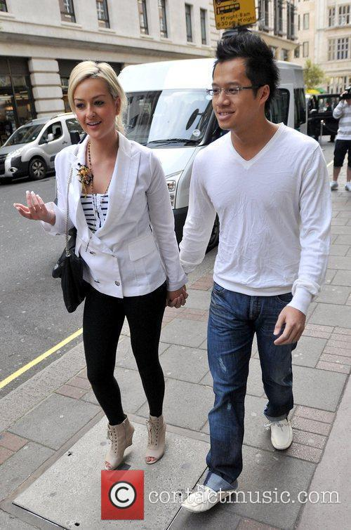 Karly Ashworth and Kenneth Tong outside the Mayfair...