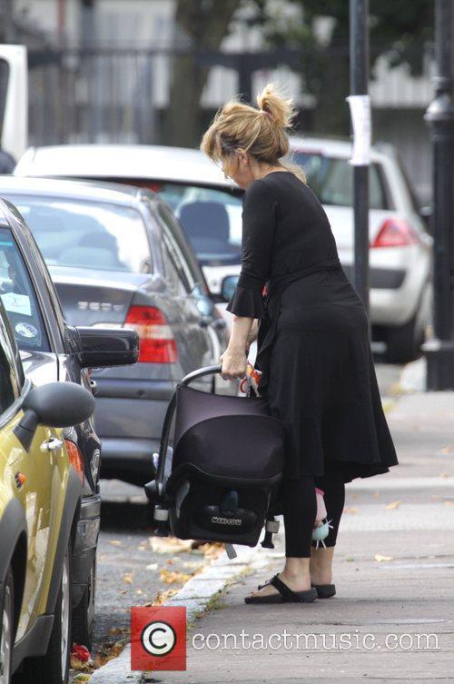 Kate Garraway Returns Home With Her Children Darcy 9