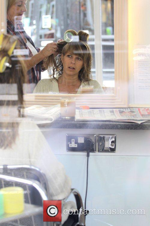Kate Garraway goes to the hairdressers London, England