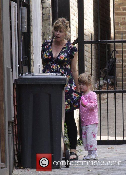 A heavily pregnant Kate Garraway dropping her daughter...