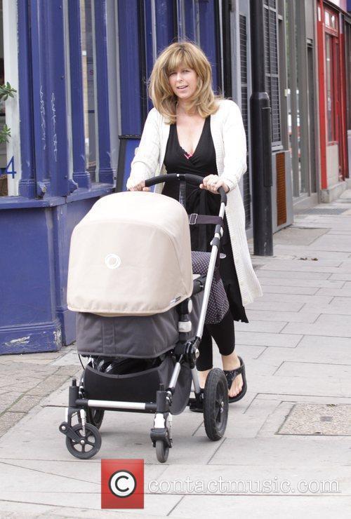 Kate Garraway puching her pram while leaving the...