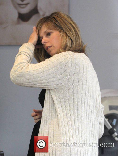 Kate Garraway visiting the hairdressers London, England
