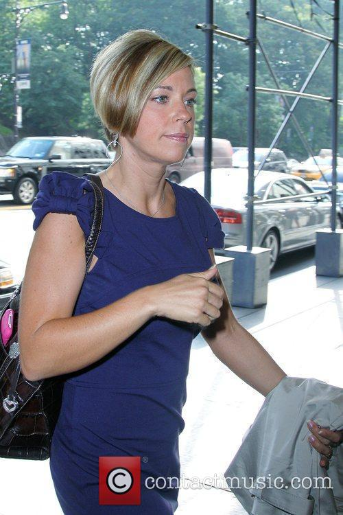 Kate Gosselin arriving at her Manhattan hotel after...