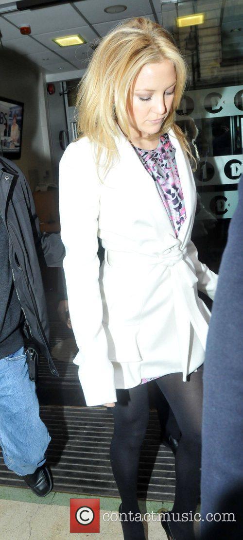 Kate Hudson leaving the BBC Radio 1 studios...