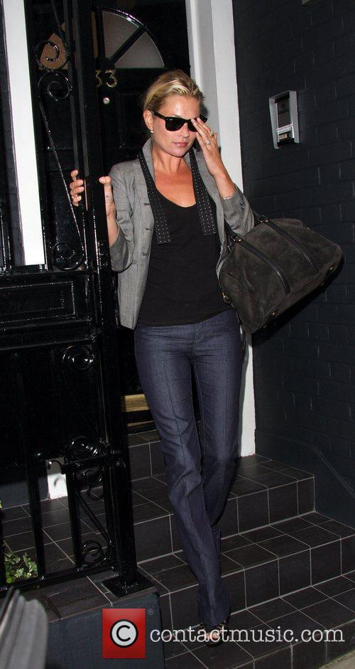 Kate Moss visits a private residence