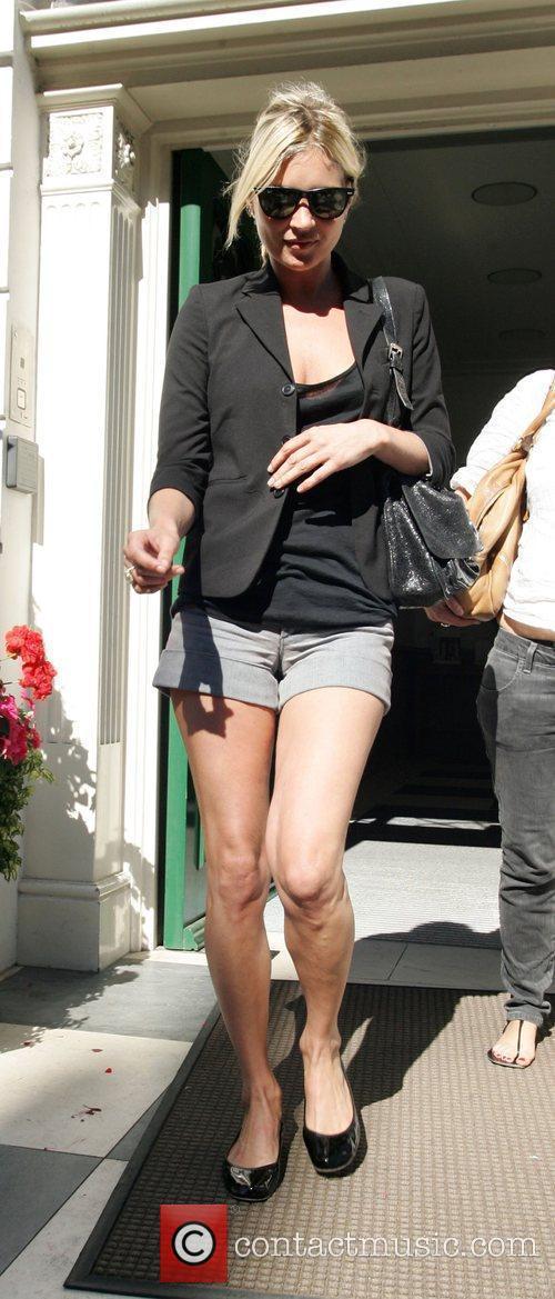 Kate Moss leaving a London address earlier today...