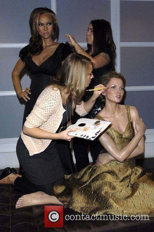 Kate Moss and Tyra Banks waxwork unveilings held...