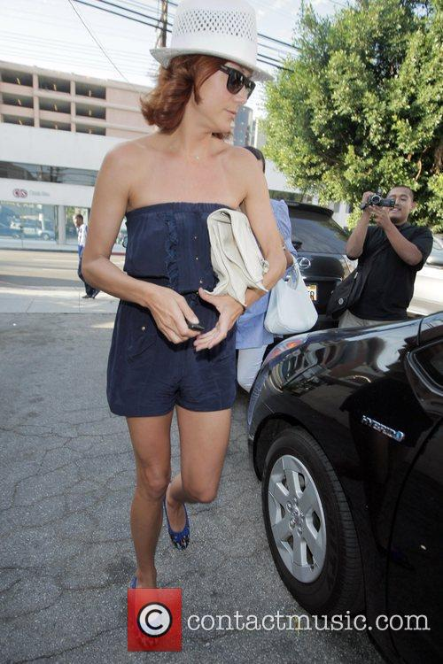 'Private Practice' star leaving the Orso Restaurant with...