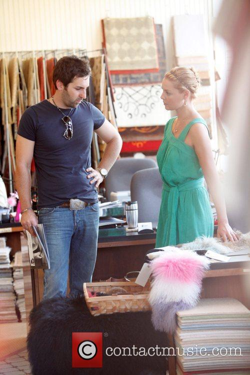 Shops on Robertson Boulevard with husband Josh Kelley
