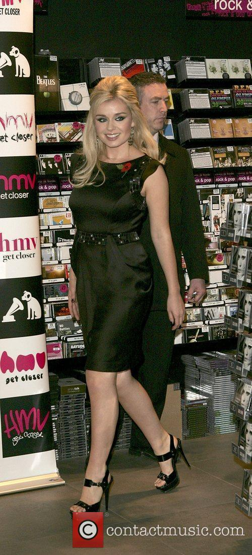 Katherine Jenkins promoting and signing copies of her...