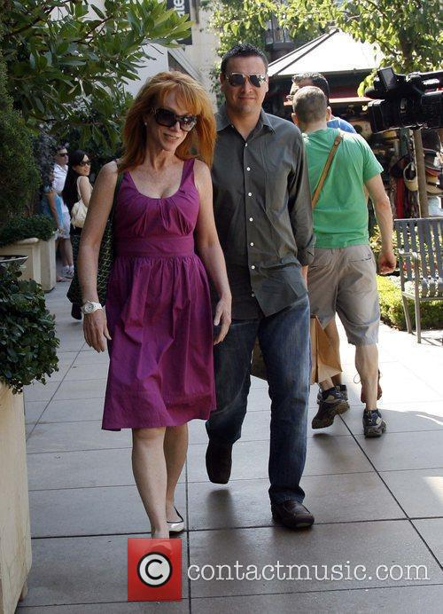 Kathy Griffin stops for lunch with a friend...
