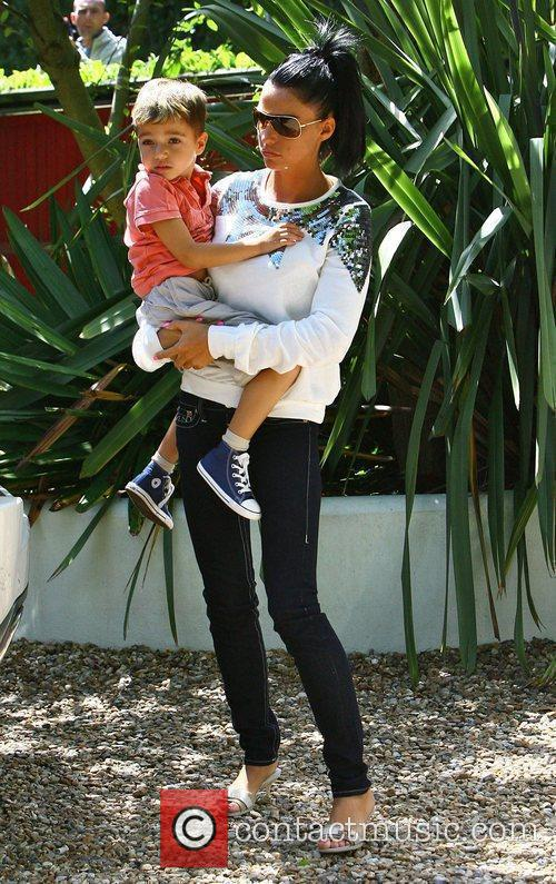 Katie Price with her son Junior outside Peter...