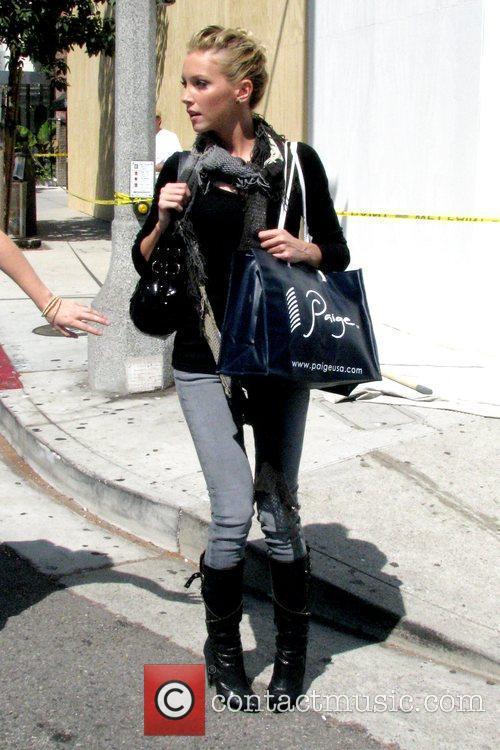 Katie Cassidy 'Melrose Place' star walking along Robertson...