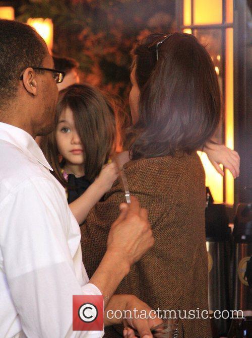 Katie Holmes, daughter Suri Cruise visit Balthazar restaurant...