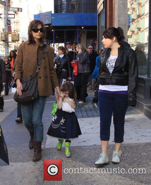 Katie Holmes, daughter Suri Cruise and step-daughter Isabella...