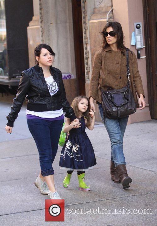 Katie Holmes, daughter Suri Cruise and step-daughter Isabella...