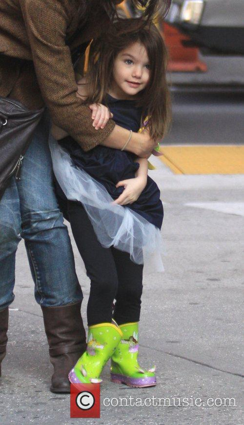 Suri Cruise out in SoHo with her mother...