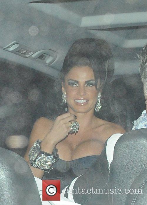 Katie Price aka Jordan leaves the Mayfair hotel...