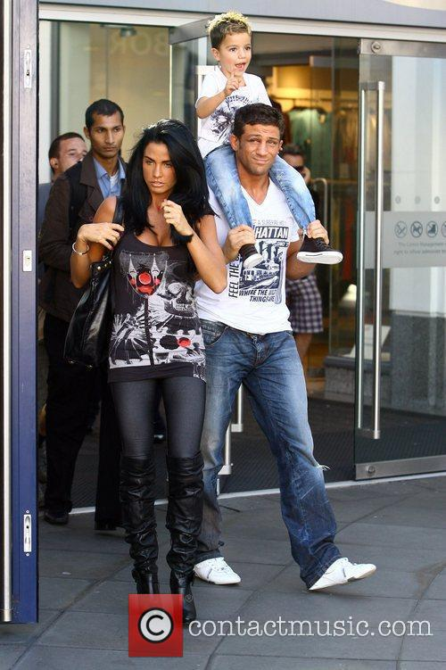Katie Price, Aka Jordan, Boyfriend Alex Reid and Son Junior 5