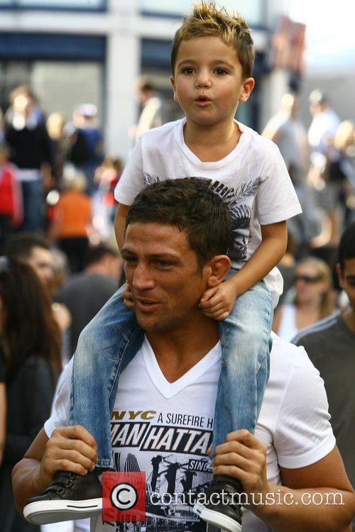 Katie Price, aka Jordan, boyfriend Alex Reid, son Junior